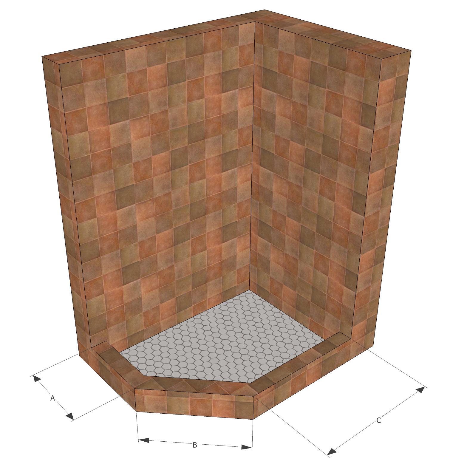 Neo-Angle Shower base | AltoGlass - Framed and Frameless Shower ...