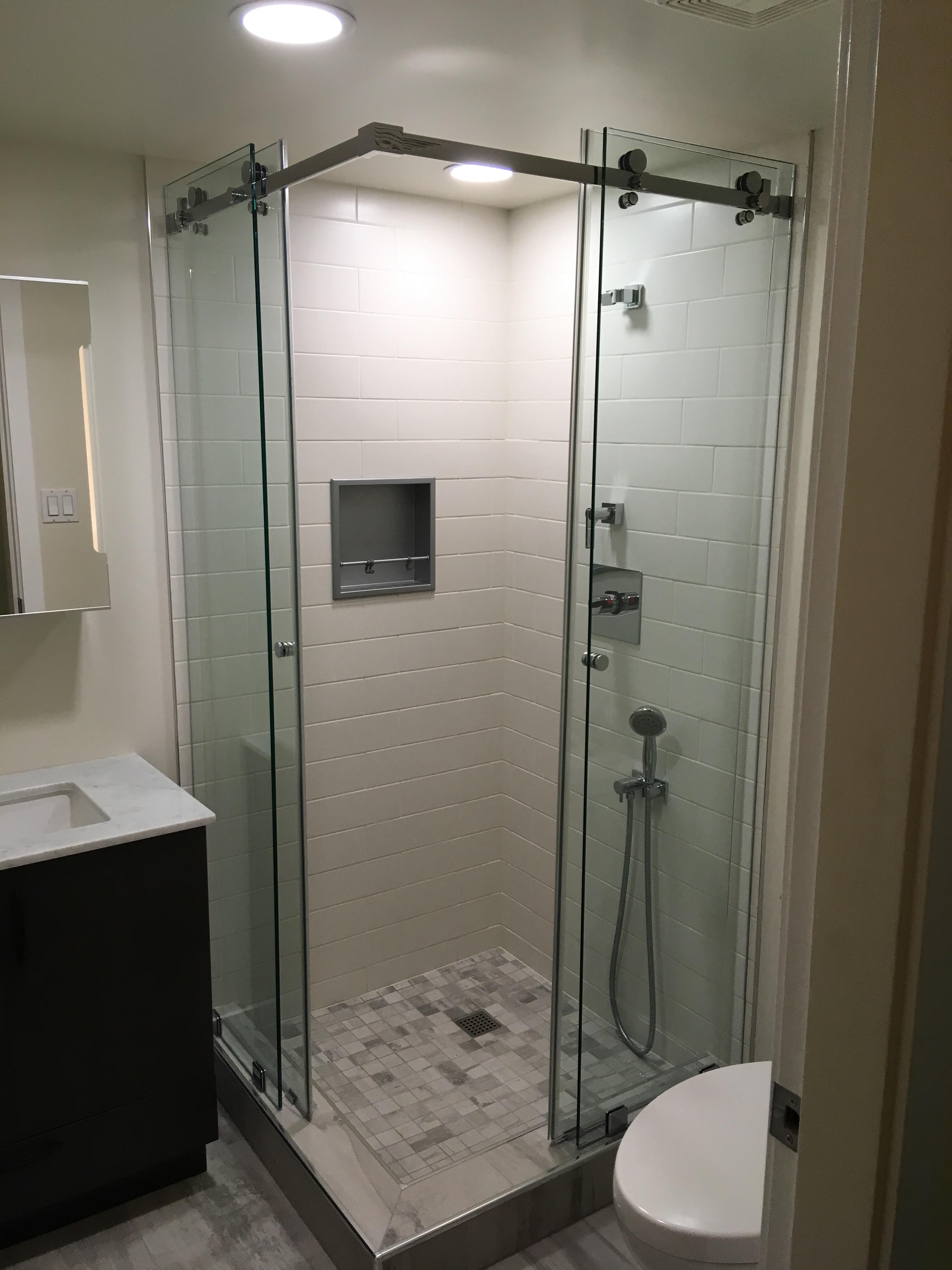 Corner Slider Shower Door Altoglass Framed And Frameless