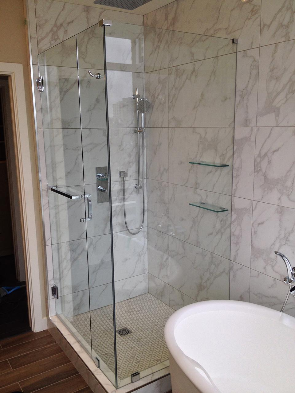 Fitting a shower door - Frameless Shower Doors Vancouver